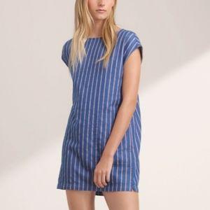 ARITZIA WILFRED FREE Blue Denim Stripe Shift Dress